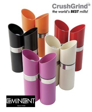T&G Woodware Eminent Lipstick Upside Down Mill Set :  salt and pepper carbonate mill unique